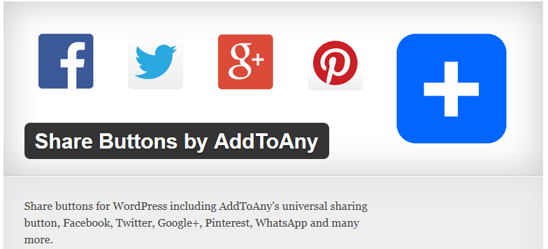 Plugin AddToAny Share Buttons